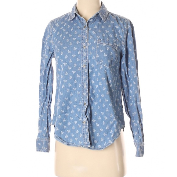 Anthropologie Holding Horses Dots And Dahlias Top